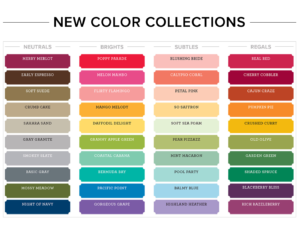 2018;Stampin' Up! Color Collections